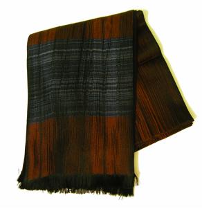 Tender Autumn Wind, Italian Silk and Wool Scarf