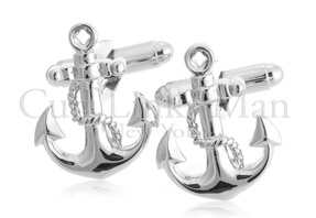 Nautical Silver Anchor Cufflinks, $29