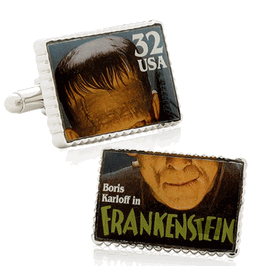 Frankenstein Stamp Cufflinks