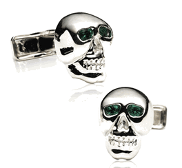 Emerald Eye Skull Cufflinks