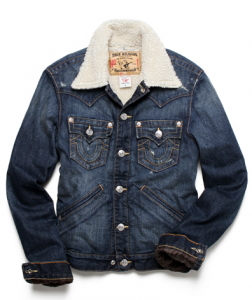 Sherpa-Lined Denim Jacket by True Religion