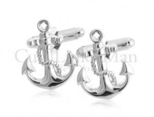 Nautical Silver Anchor Cufflinks