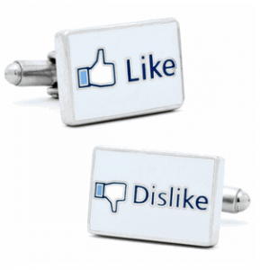 Like/Dislike Social Network Cufflinks