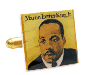 WWhat happened to non-violence? Fight Police Brutality! Shown: MLK JR Cufflinks