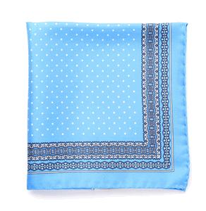 Baby Blue 100% Italian Silk Bow Ties Pocket Squares