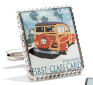 Woodie Wagon Stamp Cufflinks