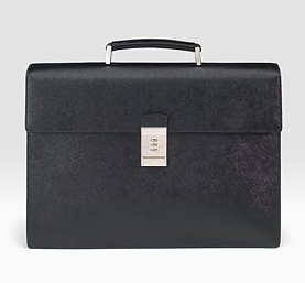 Prada Saffiano Leather Briefcase, $1,625