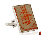 Printing Press Stamp Cufflinks