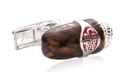 Brown Cigar Cufflinks