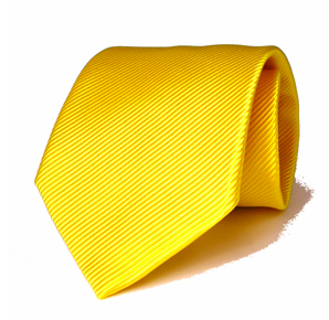 Italian Luxury: Yellow Sun Magador Cotton and Silk Blend Neck Tie