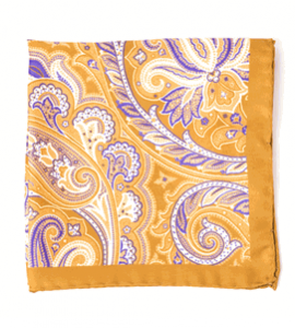 Creamsicle Paisley Silk Pocket Squares