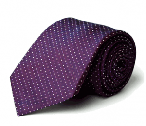 Purple Clover Tie, 100% Italian Silk Neck Wear from Daniel Dolce