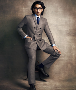 Wool suit ($648) by Banana Republic; cotton shirt ($595) by Brioni; silk knit tie ($105) by Thomas Pink; leather shoes ($860) by Fratelli Rossetti.  Photo by: Tony Kim of Esquire Magazine