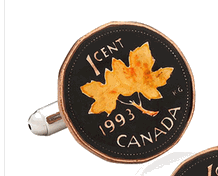 Hand Painted Canadian Coin Cufflinks