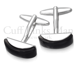 Black Curved Catseye Cufflinks