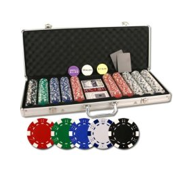 Da Vinci Set of 500 Poker Chips W/Aluminum Case, 3 Dealer