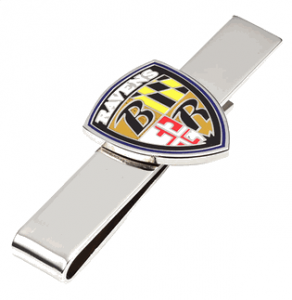 Baltimore Ravens Tie Bar $34