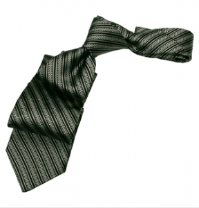 Black Super Stripe Silk Tie