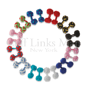 Pack of Twelve Pairs: Silk Knot Cufflinks *Under $50*