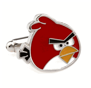 Red Angry Bird Cufflinks