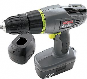 Craftsman Evolv Evolv 18.0 volt Drill/Driver 11383, $39 at Sears