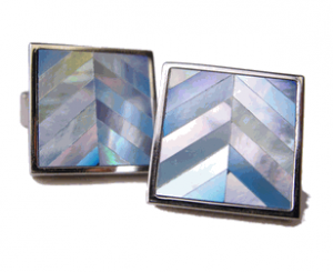 Skyline of Blue Mother of Pearl Cufflinks