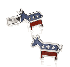 Sterling Democrat Cufflinks