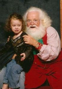 Scary Santa Photo