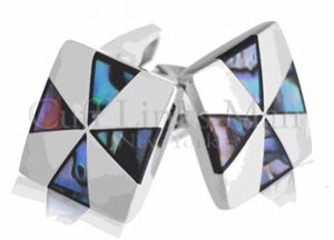 Stunning Abalone Triangle Cross Cufflinks