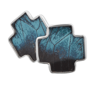 Aymara Blue Breeze Cross Butterfly Cufflinks