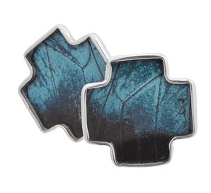 Aymara Blue Breeze Cross Butterfly Cufflinks
