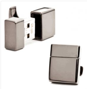 Gunmetal 4GB USB Flash Drive Cufflinks