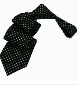 Black Polka Dot Silk Tie *Under $50*