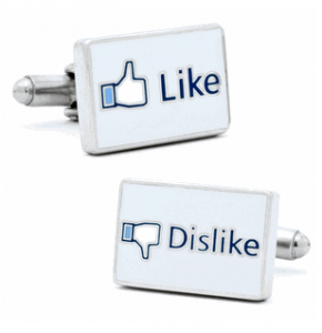 Like/Dislike Facebook Cufflinks
