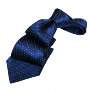 Navy Dotted Silk Tie *Under $50*
