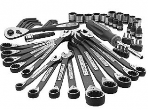 Craftsman 56-piece Universal Mechanics Tool Set Sears Item# 00924964000 | Model# 24964  Rating 4.5 | 41 Reviews | Create a Review Reg Price: $99.99 Savings: $20.00 $79.99 Now $71.99