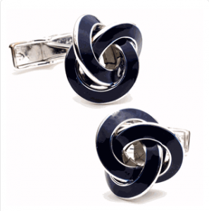 Blue Enamel Knot Cufflinks