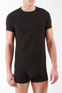 steel micro crewneck t-shirt, from Calvin Klein $36.00