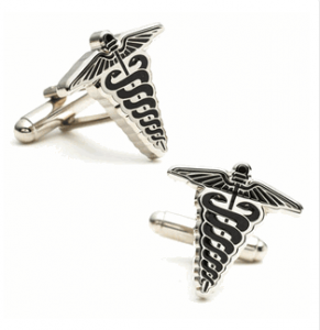 Caduceus Cufflinks