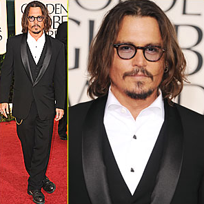 Johnny Depp at Golden Globe Awards, 2012