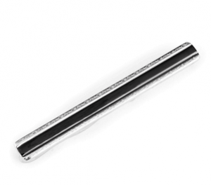 Stainless Steel and Black Resin Tie Bar