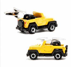 Yellow Off Road Vehicle Cufflinks