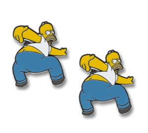 Homer Simpson Kiss My Butt Cufflinks
