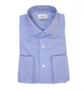 Blue Textured Collared Shirt, Daniel Dolce