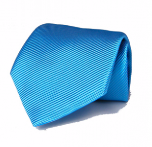 Italian Sky Blue Magador Cotton and Silk Blend Tie