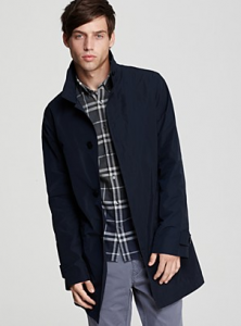 "Burberry Brit ""Langley"" Single Breasted Rainwear Jacket"