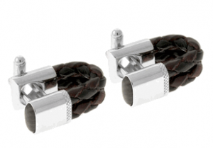 Tateossian Rt Scoubidou Brown Black Cufflinks