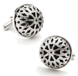 Onyx Caged Dome Cufflinks