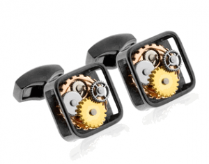 Tateossian Gear Gunmetal Cufflinks