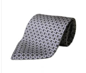 Black and Grey Circles, 100% Italian Silk